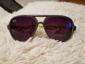 Sonnenbrille Pilotenbrille Ray Ban rb 4125 col 11 grau Neongelb
