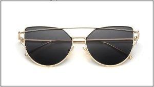 Sonnenbrille Pink Blogger Design Gold Elegant Schick Modern Damen Aviator