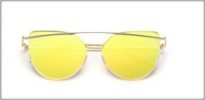 Glasses yellow-gold-colored
