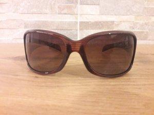 Ovale zonnebril donkerbruin
