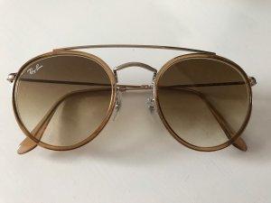 Ray Ban Round Sunglasses light brown
