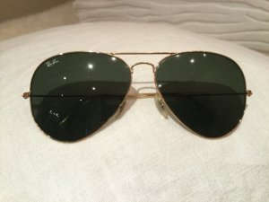 Ray Ban Aviator Glasses black-gold-colored