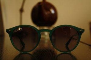 Sonnenbrille Ray Ban, grün, im Retrostyle