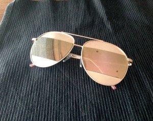 Sonnenbrille Rose Verspiegelt Pilotenbrille Rosegold Gold