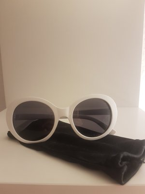H&M Round Sunglasses white-black brown