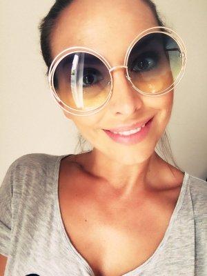 Sonnenbrille rund groß wie #Chloe#carlina