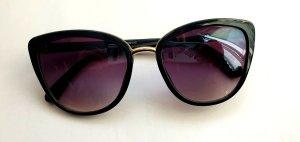 Bijou Brigitte Oval Sunglasses black-sand brown