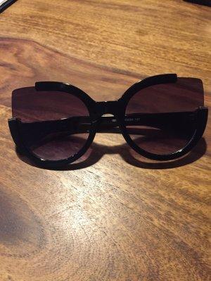Occhiale da sole nero-oro