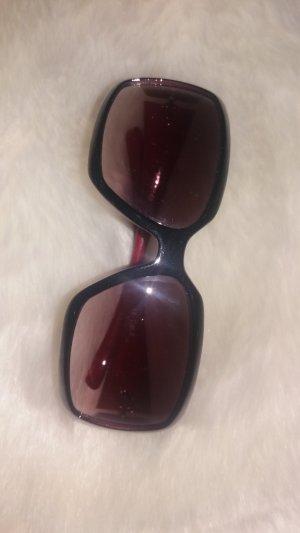 Gafas de sol cuadradas negro-carmín