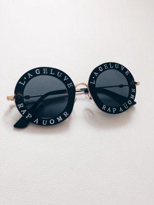 Sonnenbrille schwarz rund Blogger Sunglasses