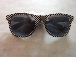 Sonnenbrille SKA schwarz weiß kariert Wayfarer Style