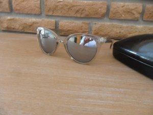 Sonnenbrille taupe/grau, verspiegelt, Hallhuber, NEUWERTIG