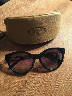 Sonnenbrille Tods Neu Cat Eyes schwarz Blogger oversize