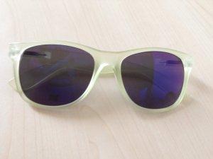 Sonnenbrille transparent gelbgrün von H&M
