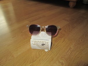 Sonnenbrille transparent / pink