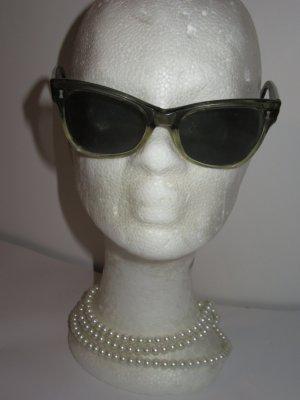 Vintage Bril zwart-donkergroen