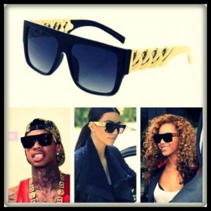 Gafas color oro-negro