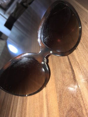 Versace Round Sunglasses brown-gold-colored