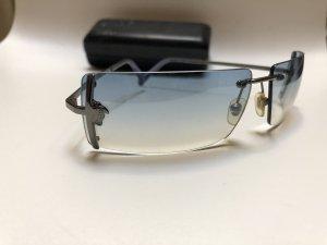 Versace Retro Glasses pale blue-silver-colored