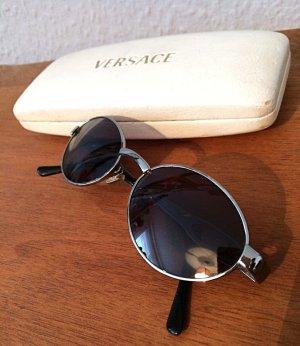 Versace Retro Glasses dark blue-silver-colored metal