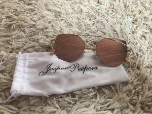 Angular Shaped Sunglasses gold-colored-pink