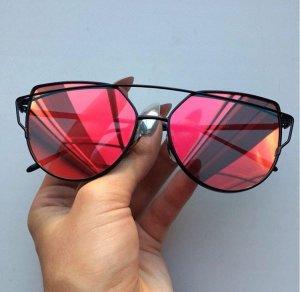 Sonnenbrille verspiegelt rot Blogger Sunglasses