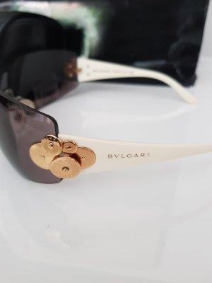 Bulgari Oval Sunglasses white-gold-colored