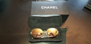 Chanel Oval Sunglasses gold-colored