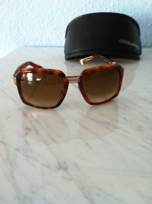 Sonnenbrille von DSQUARED², very stylish in braun/goldfarben. Neu! Mit Box.