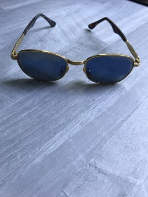 Aviator Glasses gold orange-blue