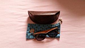 Fossil Round Sunglasses black-orange