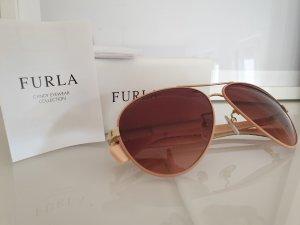 Furla Oval Sunglasses gold-colored-dusky pink