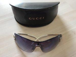 Gucci Bril lichtgrijs-neon blauw