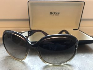 Hugo Boss Round Sunglasses gold-colored-green grey