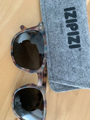 Oval Sunglasses grey brown synthetic material