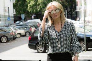 Linda farrow luxe Occhiale marrone-grigio Metallo