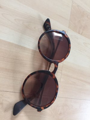 Mango Ronde zonnebril donkerbruin-goud