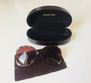 Sonnenbrille von Michael Kors | Braun mit Golddetails | Wie NEU mit Etui