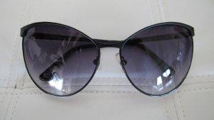 """Sonnenbrille von """"Michael Kors""""  Metall schwarz mit blauem Glas Cateye Form"""