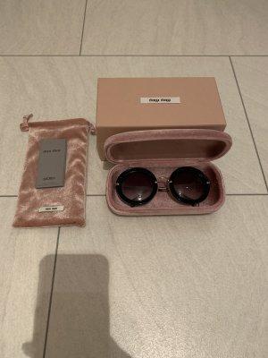 Miu Miu Round Sunglasses black