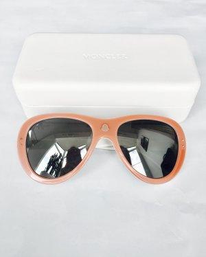 Sonnenbrille von Moncler, altrosa und weiß, super Zustand