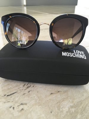 Moschino Lunettes noir-bronze
