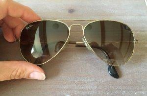 Sonnenbrille von Ray Ban Aviator in braun gold