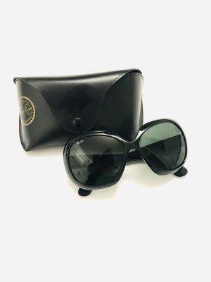 Sonnenbrille von Ray Ban, schwarz, ovale Form