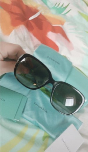 Tiffany&Co Angular Shaped Sunglasses baby blue-black