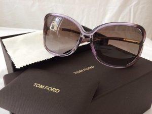 Tom Ford Lunettes de soleil ovales gris violet