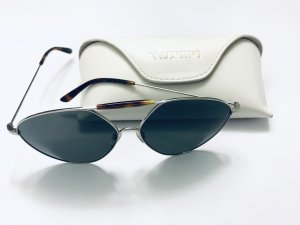 Sonnenbrille von Valentino, Pilotenform, braun, silber