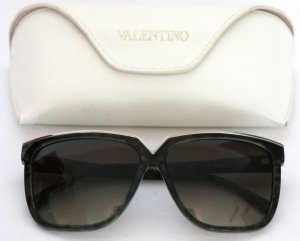 Valentino Butterfly Glasses dark green-silver-colored