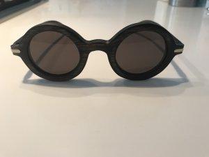 Retrobril grijs-bruin-donkerbruin Hout