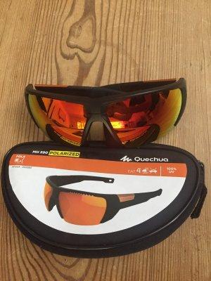 Quechua Angular Shaped Sunglasses black-orange